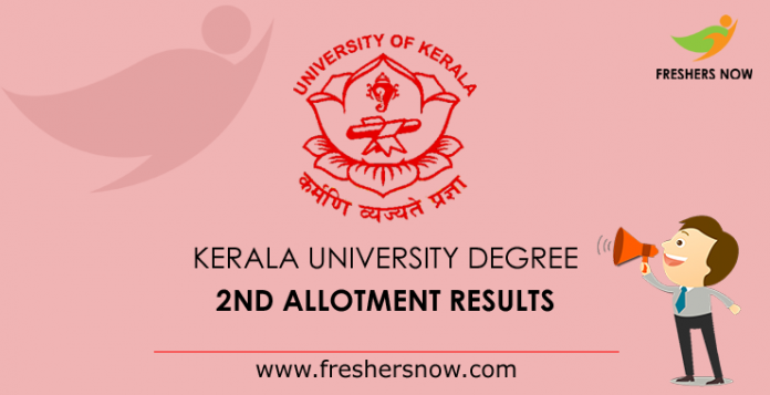 Kerala University Degree 2nd Allotment Results
