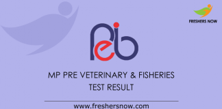 MP Pre Veterinary & Fisheries Test Result