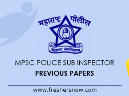 MPSC Police Sub Inspector Previous Papers