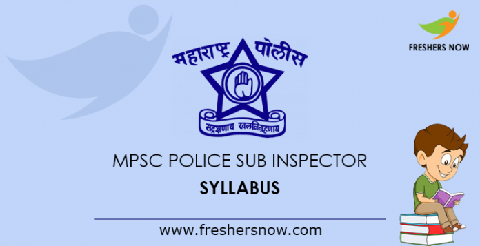 MPSC Police Sub Inspector Syllabus 2019