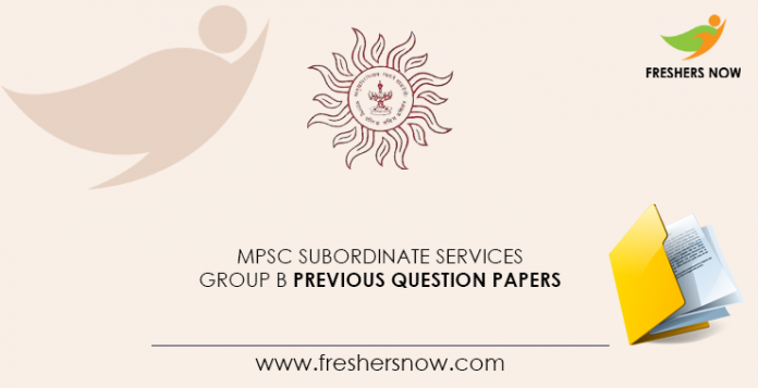 MPSC Subordinate Service Group B Previous Question Documents