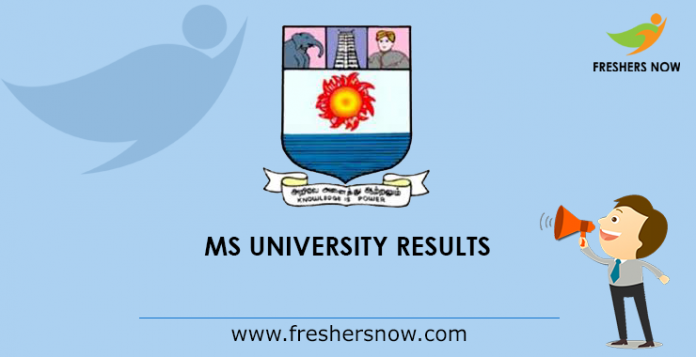 Magnificent Ms University Results 2019 Released Msuniv Ac In Ug Pg Best Image Libraries Weasiibadanjobscom