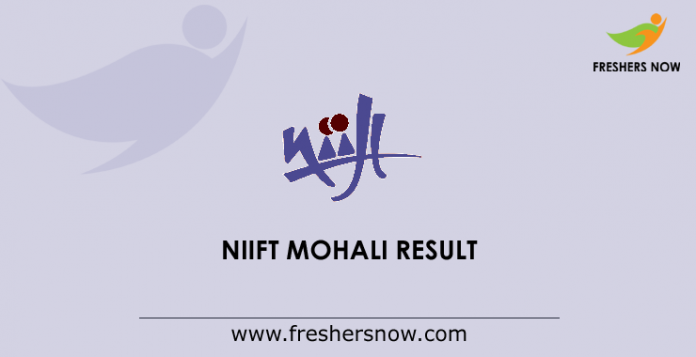 NIIFT Mohali Result 2019