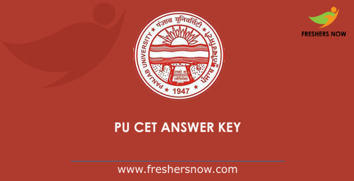 PU CET PG Answer Key 2019