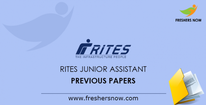 RITES Junior Assistant Previous Papers