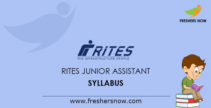 RITES Junior Assistant Syllabus