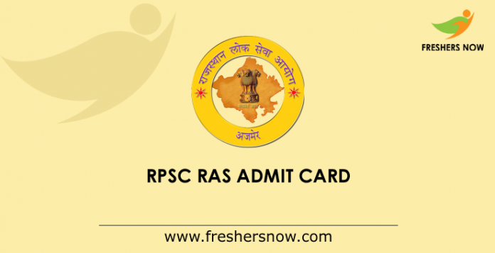 RPSC RAS Mains Admit Card 2019