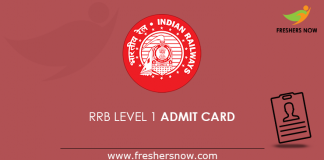 RRB Level 1 Admit Card