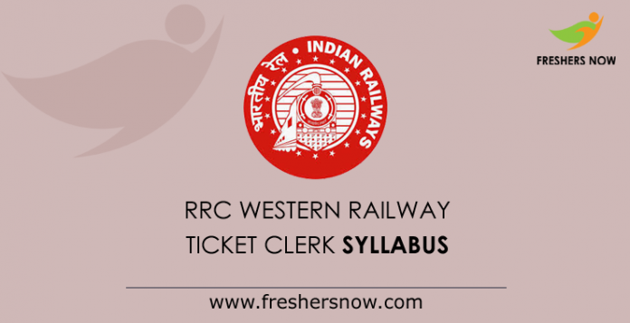 RRC Western Railway Ticket Clerk Syllabus 2019