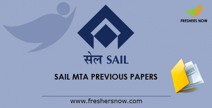 SAIL MTA Previous Papers