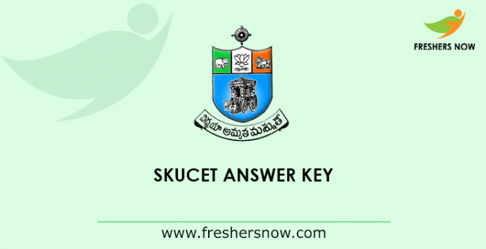 SKUCET Answer Key 2019