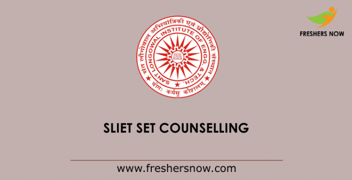 SLIET SET Counselling 2019
