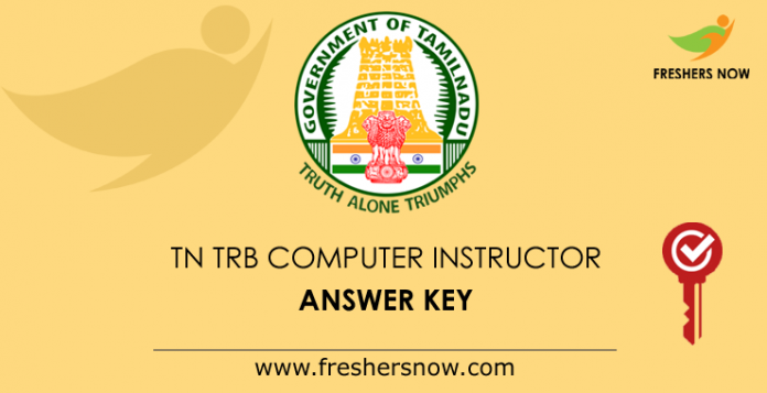 TN TRB Computer Instructor Answer Key