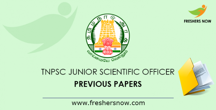 TNPSC Junior Scientific Officer Previous Question Papers PDF Download