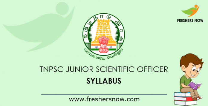 TNPSC Junior Scientific Officer Syllabus 2019