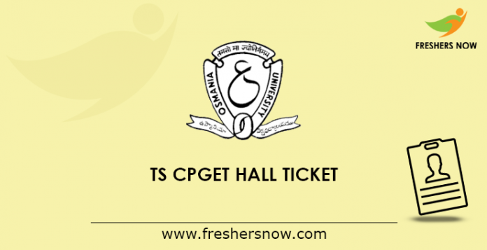 TS CPGET Hall Ticket 2019
