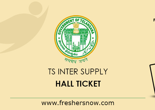 TS Inter Supply Hall Ticket 2019