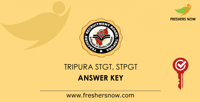 Tripura STGT, STPGT Answer Key