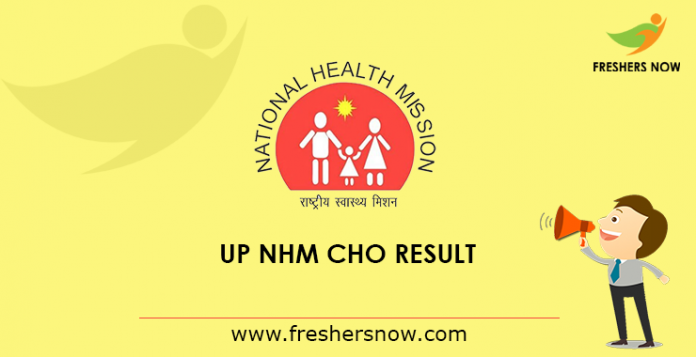 UP NHM CHO Result
