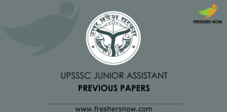 UPSSSC Junior Assistant Previous Papers