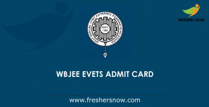 WBJEE EVETS Admit Card 2019