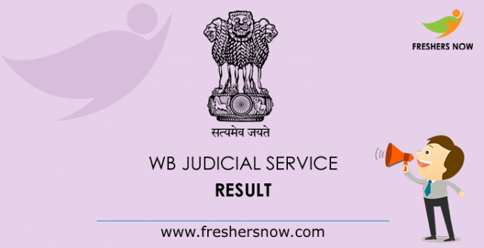 West Bengal Judicial Service Result 2019