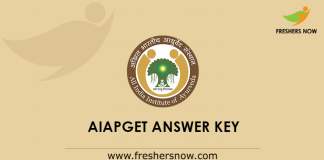 AIAPGET Answer Key