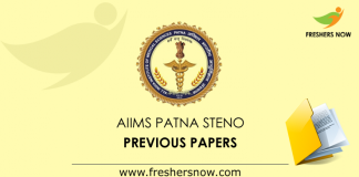 AIIMS Patna Stenographer Previous Papers
