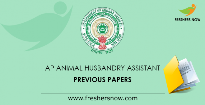AP Animal Husbandry Assistant Previous Papers
