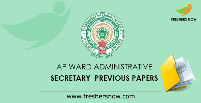 AP Ward Administrative Secretary Previous Papers