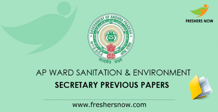 AP Ward Sanitation & Environment Secretary Previous Papers