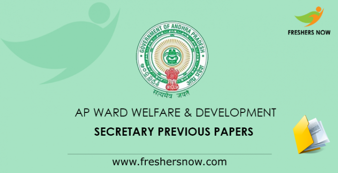 AP Ward Welfare & Development Secretary Previous Papers