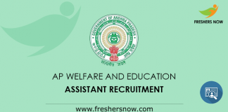 AP Welfare and Education Assistant Recruitment