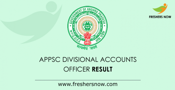 APPSC Divisional Accounts Officer Result 2019