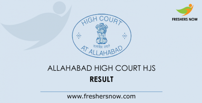 Allahabad High Court HJS Mains Result 2019