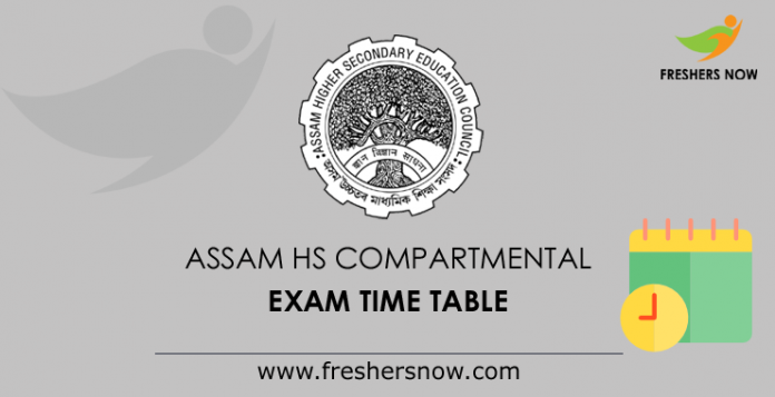 Assam HS Compartmental Exam Routine