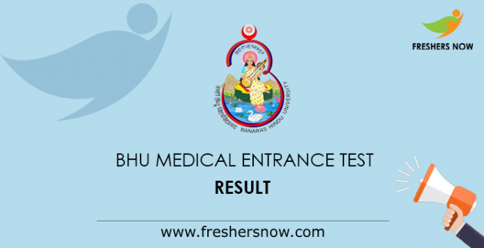 BHU Medical Entrance Test Result