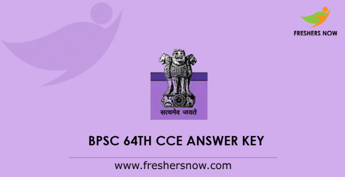 BPSC 64th CCE Mains Answer Key