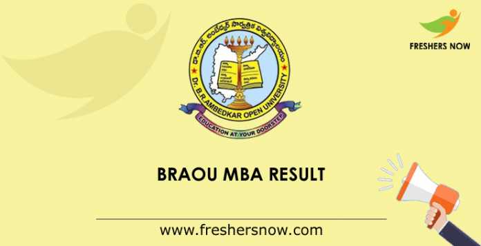 BRAOU MBA Result 2019