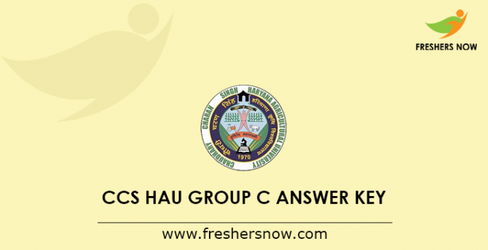 CCS HAU Group C Answer Key 2019
