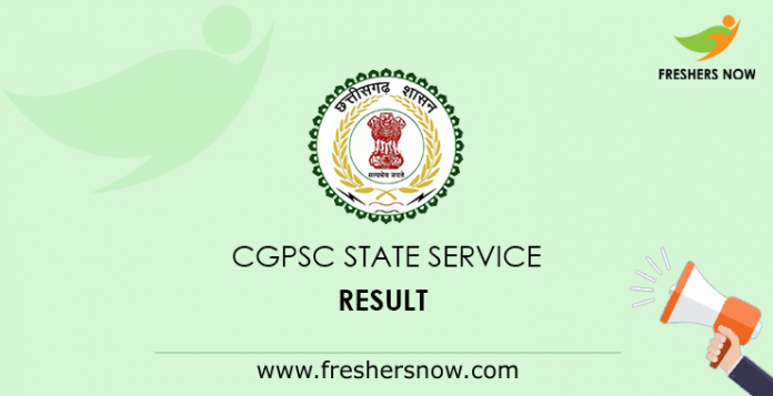 CGPSC State Service Mains Result
