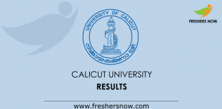 Calicut University Exam Results