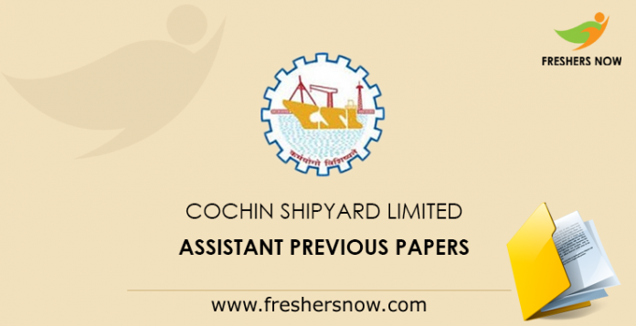 Cochin Shipyard Limited Previous Papers
