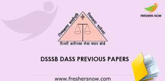 DSSSB DASS Previous Papers