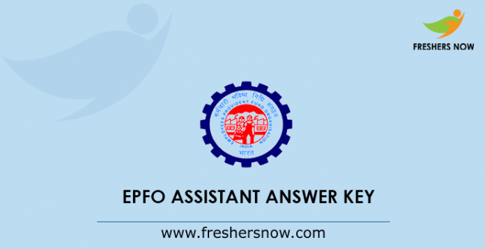 EPFO Assistant Answer Key