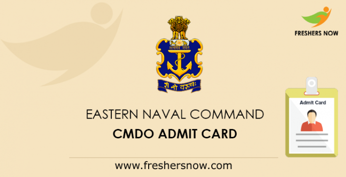 Eastern Naval Command CMDO Admit Card