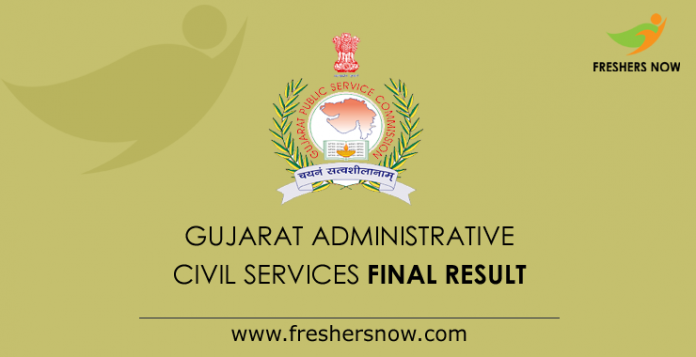GPSC Administrative & Civil Services Final Result 2019