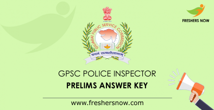 GPSC Police Inspector Prelims Answer Key