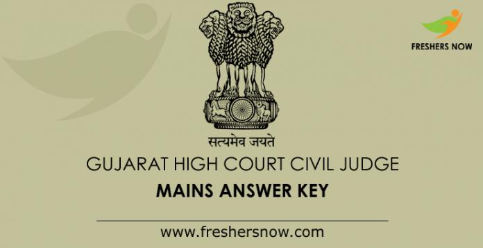 Gujarat High Court Civil Judge Mains Answer Key 2019