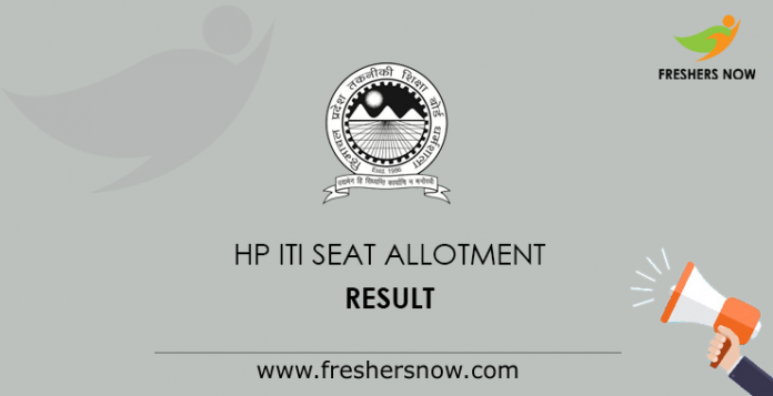 HP ITI Seat Allotment Results
